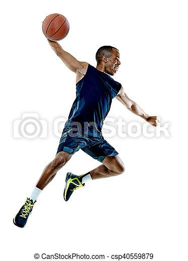 Basketballspieler-Mann Isoliert - csp40559879