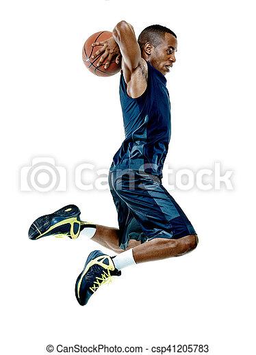 spieler, basketball, mann, freigestellt - csp41205783