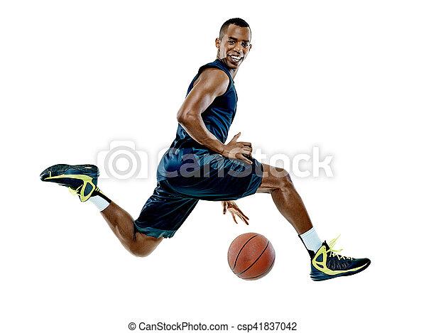 spieler, basketball, mann, freigestellt - csp41837042