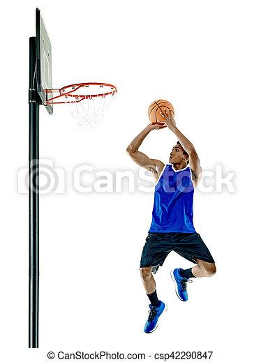 Basketballspieler-Mann Isoliert - csp42290847