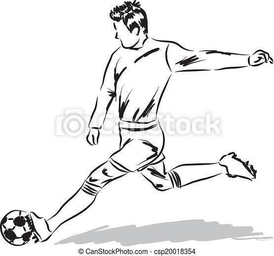 Spieler fu ball abbildung fu ball - Pagina da colorare di un pallone da calcio ...