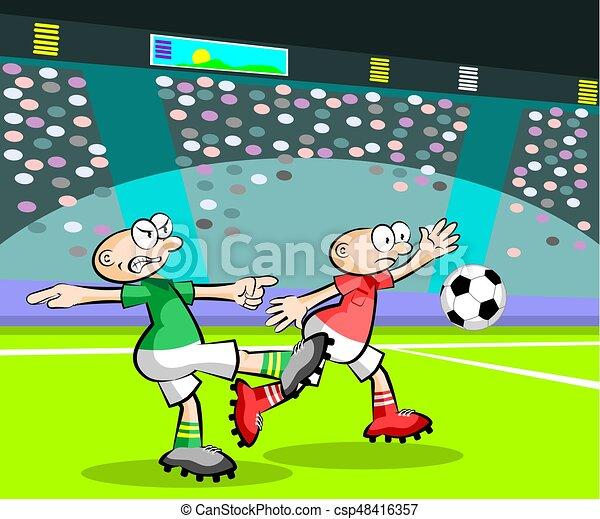 Spieler Fussball Karikaturen