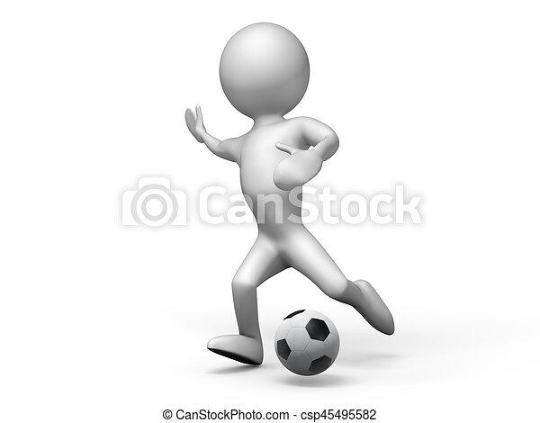 Spieler Fussball Render 3d