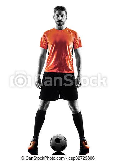 Spieler Fussball Silhouette Freigestellt Mann