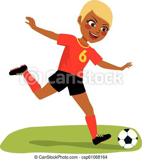 Spieler Mi Dchen Fussball Spielen Fussballs Schone