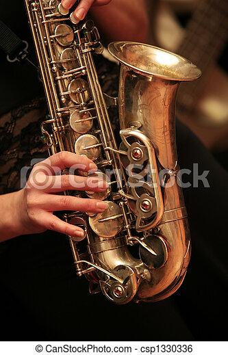 spieler, saxophon - csp1330336