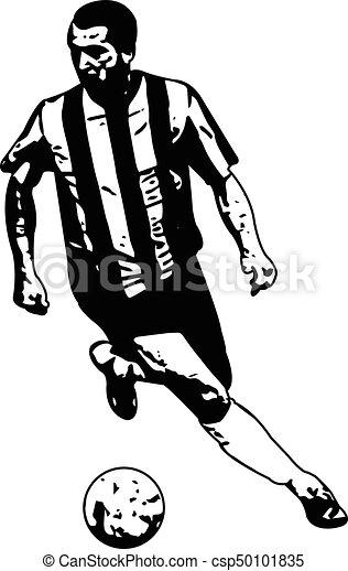 Fussballspieler Zeichnen Illustrationen Fussball Spieler