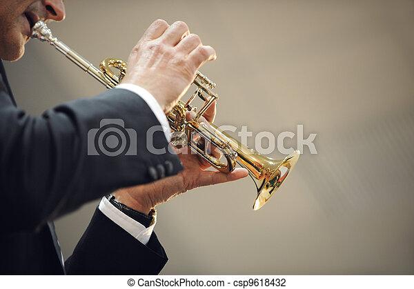 spieler, trompete - csp9618432