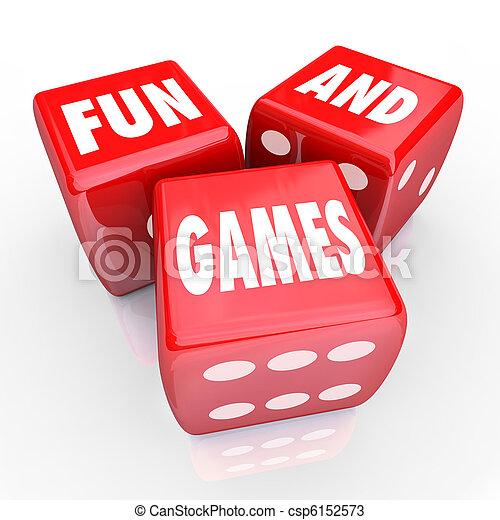 spielwürfel, -, drei, spiele, wörter, spaß, rotes  - csp6152573