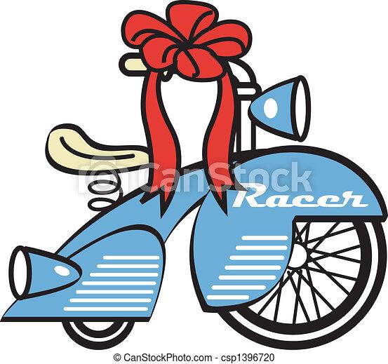 spielzeug, kunst, dreirad, klammer, dreiradfahren, fahrrad