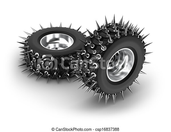 spiked tires stock illustration search eps clip art drawings  vector graphics images