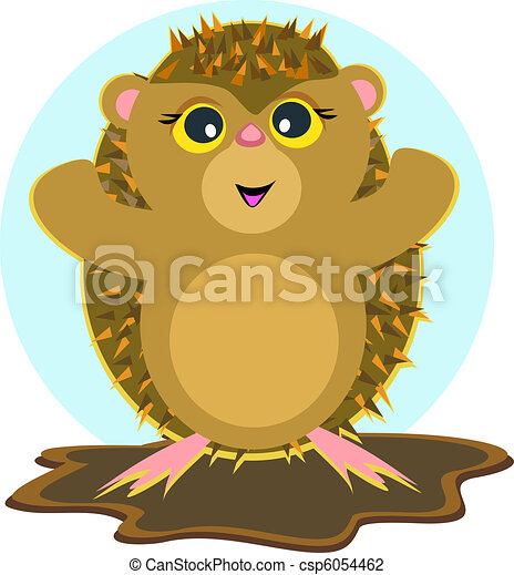 Spiky the Hedgehog - csp6054462