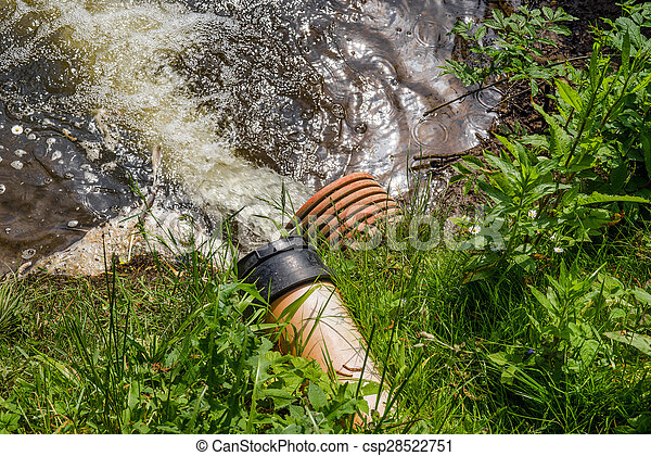 Spill water in a lake - csp28522751