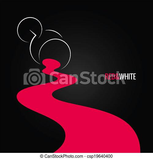spilled wine glass design background 8 eps