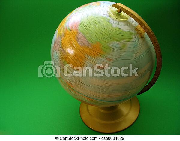Spinning Globe - csp0004029