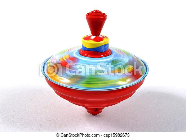 spinning, leksak, topp - csp15982673