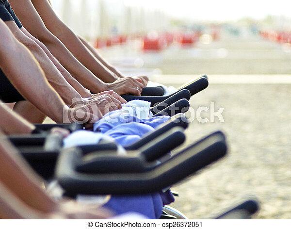 spinning on the beach - csp26372051
