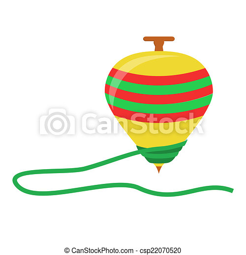 spinning top toy in a white background isolated rh canstockphoto com top clipart top clipart clothes