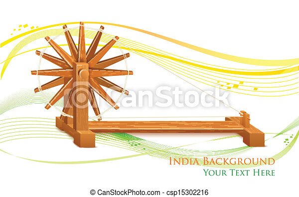 Spinning Wheel on India background - csp15302216
