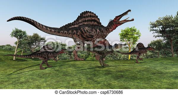 Spinosaurus Mother - csp6730686