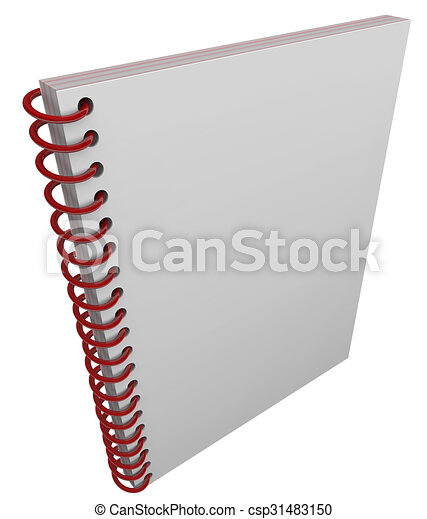 spiral bound book cover notebook journal blank copy space blank