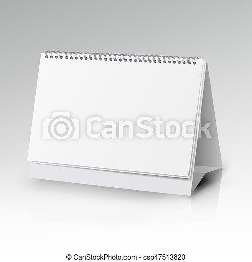 Spiral Calendar Vector Template Vertical Table Calendar With Blank