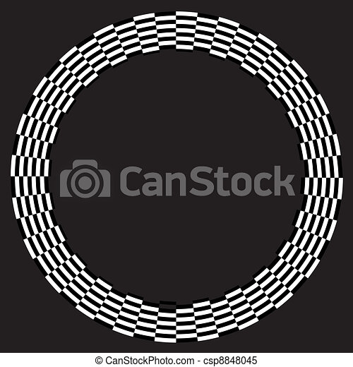 Spiral Design Illusion Frame - csp8848045