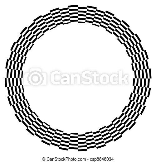 Spiral Design Illusion Frame - csp8848034