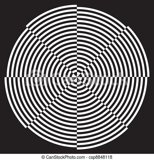 Spiral Design Illusion Pattern - csp8848118