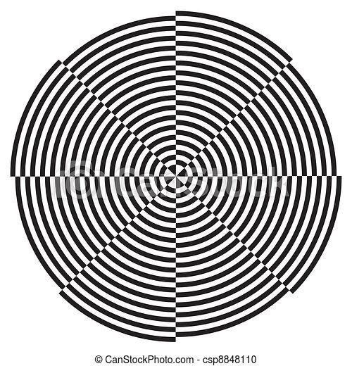 Spiral Design Illusion Pattern - csp8848110