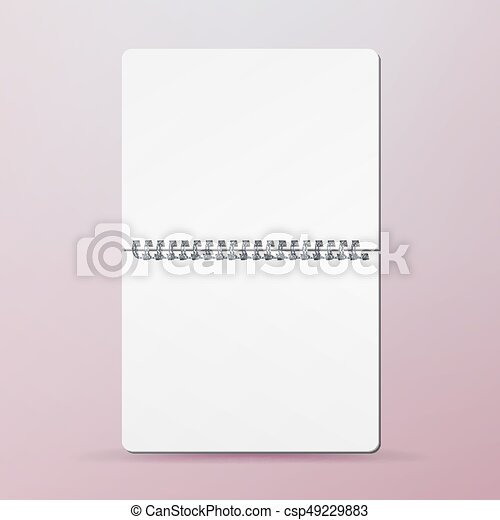Spiral empty notepad blank mockup. template for advertising ...