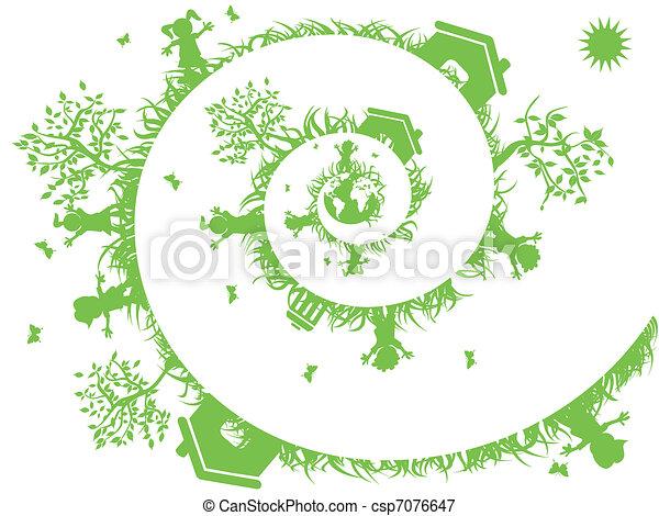 spiral green - csp7076647
