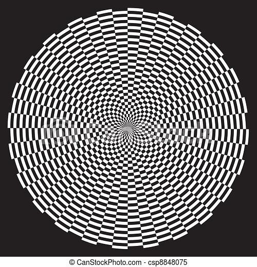 Spiral Illusion Design Pattern - csp8848075