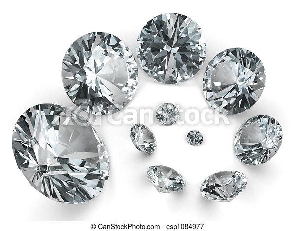 Spiral of different diamonds - csp1084977