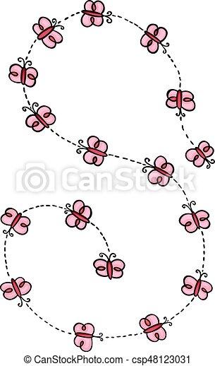Spiral of flying butterflies - csp48123031