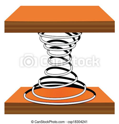 Spiral on a stand - csp18304241