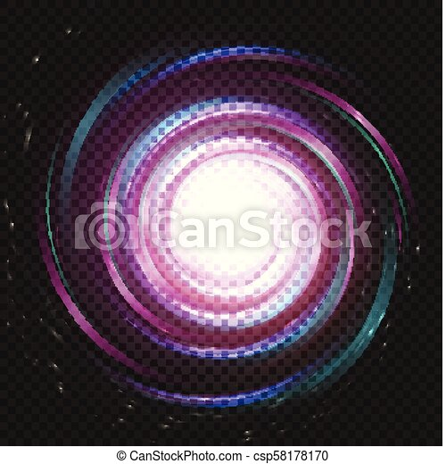 Spiral Purple Magic Galaxy Background Bright Swirl Purple Space On Black Background Galaxy Storm Vector Illustration Universe Object Abstract