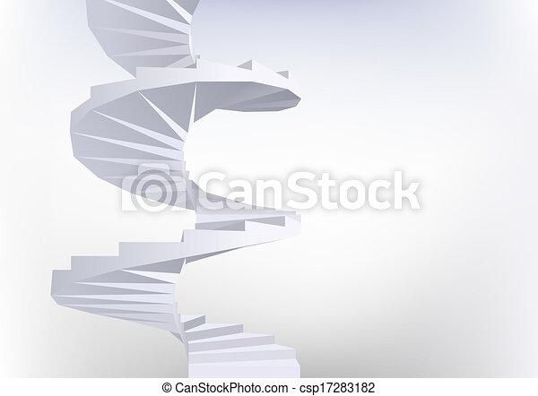 Spiral staircase. - csp17283182