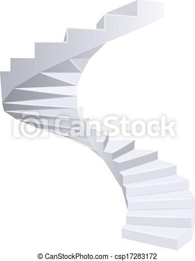 Spiral staircase. - csp17283172