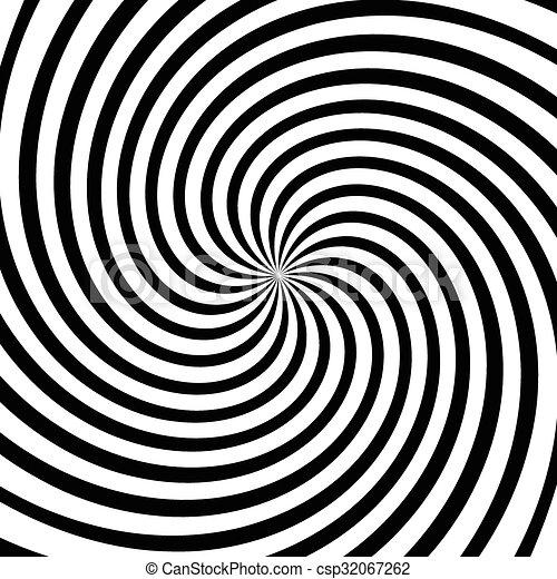 Spiral, vortex, swirl or twirl abstract monochrome graphic. Vector. - csp32067262