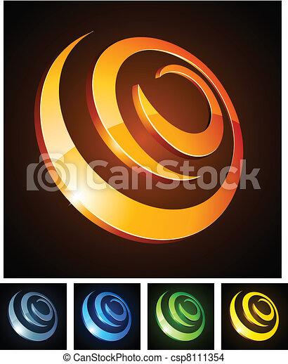 spirals., 活気に満ちた, 3d - csp8111354