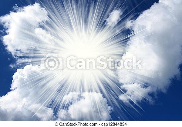 Spiritual clouds and sky - csp12844834