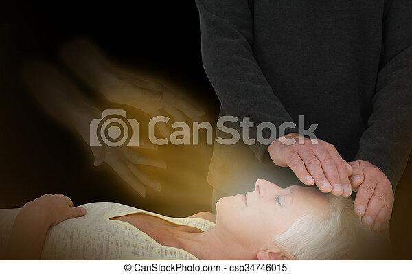 Spiritual Healing Session - csp34746015
