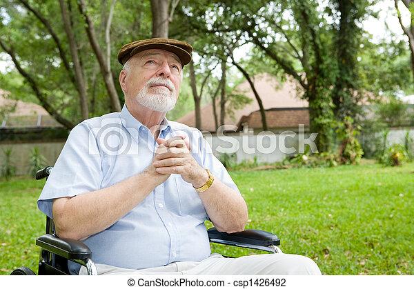 Spiritual Senior Man - csp1426492