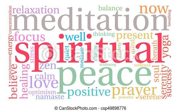 Spiritual Word Cloud - csp49898776
