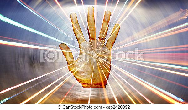 spirituale, guarigione, mano - csp2420332