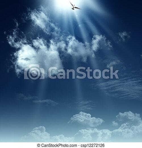 spirituel, heaven., résumé, arrière-plans, conception, manière, ton - csp12272126