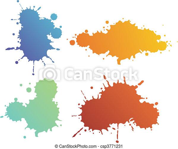 Splash shapes - csp3771231