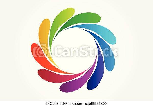 Splash water colorful logo vector - csp66831300