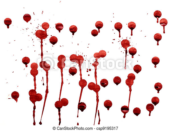 splashes of blood - csp9195317